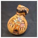 Joe Bernard Montoya Gourd Sculpture Signed