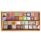 Lot Of 36 UND School of Mines Tiles Test Glaze