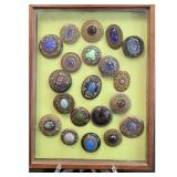 """Amazing Assortment Of Buttons """"GAY NINETYS"""" 20 PCS"""