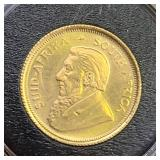 1980 GOLD COIN 1/10 OZ KRUGERRAND MS+