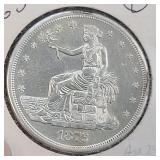 1876-S TRADE DOLLAR USD MS60+