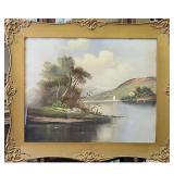 19Th C Pastel Landscape Painting