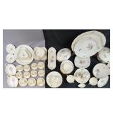 A Large Lot Of Royal Copenhagen Floral Dishes