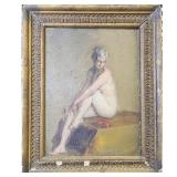 Thomas Eakins 1844-1916 Oil On Panel NUDE LADY LISTED!!