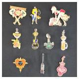 10 Hard Rock Cafe Collectible Pins