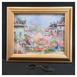 Fine Impressionist O/C Painting W/ A Pair Of Old Glass