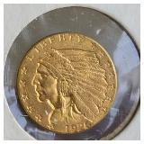 1926 2.50 Indian Gold Coin MS62