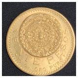 1918 Mexican Gold Coin 17 Grams 20 PESOS