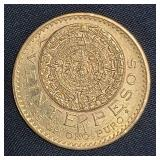 1921 Mexican Gold Coin 16 Grams 20 PESOS
