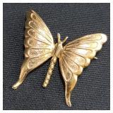 14k Gold Brooch Butterfly 3 Grams