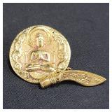 18k Gold Southeast Asian Cufflink 8 Grams