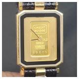 Swiss Watch With 1 Gram Fine Gold Bar CREDIT SUISSE