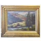 Landscape Painting Signed E.M. Carr Possibly Emily Carr