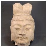Antique Asian Stone Buddha Head 3 of 3