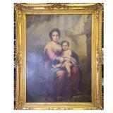FRENCH Charles Bianchini 1860-1905 Madonna & Child O/C