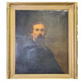 19th c O/C Portrait Painting Nathan Bedford Forrest