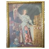 Monumental O/C 19th C Painting Joan Of Arc