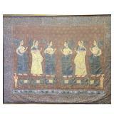 Large Monumental 19th c Hindu Painting Indian Art