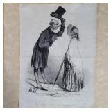 Honore Daumier Lithograph From Personal Collection Of D