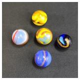 Lot Of 5 Vintage Marbles