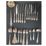 39 Pieces of Silver Flatware, 48pcs, Gebruder Reiner