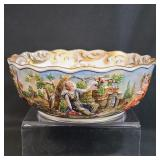 A Fine Quality And Early Capodimonte Bowl 19 C