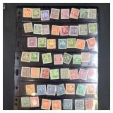 Vintage Group Of Chinese Stamps