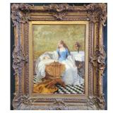 Antique O/C Painting Charles Jean August Escudier 1848