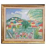 O/C Landscape Signed In manner of Raoul Dufy