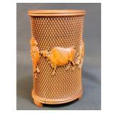 A Chinese Boxwood Brush Pot / Pen Holder