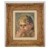 on Corbino (1905-1964) Portrait Painting Of A Child