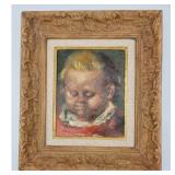 on Corbino (1905-1964) Portrait Painting Of A Child.