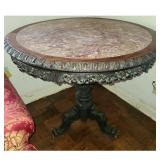 Chinese Rosewood / Hongmu Table with Marble Top 19 C