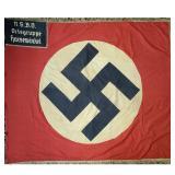World War II German Flag NSBO Ortsgruppe Harsewinkel.