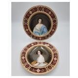 Royal Vienna Porcelain Cabinet Portrait Plates Signed