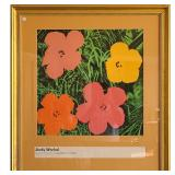 Andy Warhol Silkscreen Lithograph Flowers 1964 RE-LSTD