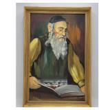Ida Galili, British / Israel Rabbi Painting Oil On Canvas