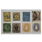 Lot Of 8 Antique Edinburg Stamps 19th c Ungraded
