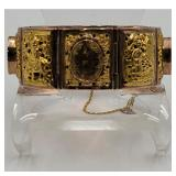 Signed Chinese Gold Bracelet 18 Gold 66.86 Grams