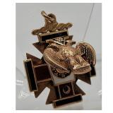 14k & Enamel Gold Masonic 32Nd Degree FOB / Pendant