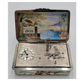 A Fine Automation Clock Enamel On Silver EROTIC