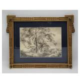 """A Very Fine 19th C Watercolor Landscape Painting. Frame Measure 17.5"""" x 22.5"""""""