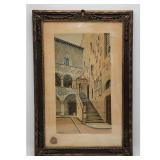 """A Very Fine 19th C Watercolor Painting. Frame Measure 27.5"""" x 18.5"""""""