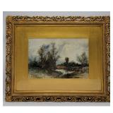 Francis Stayman Medairy 1856-1930 Watercolor Landscape Painting