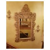 Super large antique mirror