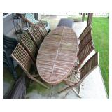 Mid Century Design Teak Table and 8 Chairs