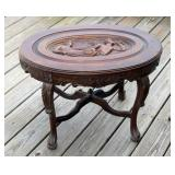 Carved Antique Accent Table