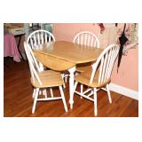 Drop Leaf Dinette Set and 4 Chairs