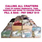 Stuff a Bag with Fabric - pay only $10