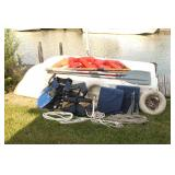 Row Boat, Life Vest, Rope, Anchors
